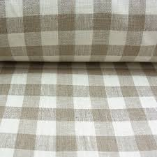 Material For Curtains Uk by Linen Check Fabric