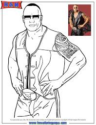 WWE Superstar The Rock Coloring Page