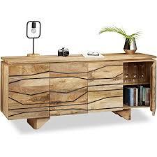 home sideboard mit muster kommode mango holz highboard wohnzimmer anrichte massiv hxbxt ca 75 x 177 x 45 cm