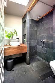 badezimmer schwarz grau schieferholz badezimmer durch