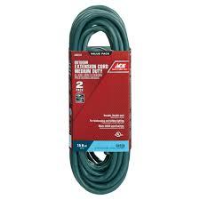 Watts Floor Drain Extension by Ace 15 U0027 Green Indoor Outdoor Extension Cords 2 Pack Outdoor