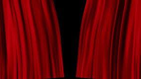 les rideaux rouges s ouvrent banque de vidéos vidéo 51780292