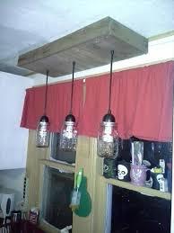 DIY Pallet Hanging Mason Jar Light Fixture