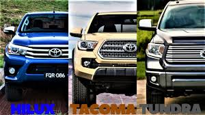 HILUX VS TACOMA VS TUNDRA ! ALL THREE TOYOTA TRUCKS COMPARED ! - YouTube Follow These Steps When Buying A New Toyota Truck New Used Car Dealer Serving Nwa Springdale Rogers Lifted 4x4 Trucks Custom Rocky Ridge 2019 Tundra Trd Pro Explained Youtube The Best Offroad Bumper For Your Tacoma 2016 Unique Hot News Toyota Beautiful 2015 Suvs And Vans Jd Power Featured Models Sale Peoria Az Vs Old Toyotas Make An Epic Cadian 2018 Release Date Price Review