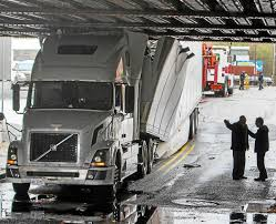 Stuck Truck: Rig Fails To Clear Overpass | News | Pottsmerc.com What To Do When Your Truck Rig Breaks Down Pipeliners Are Customizing Their Welding Rigs The Drive Big Rigtractor Trailer Radiator Repair Riverside Ca Recoring Pickup Truck Crashes With Big Rig In Nw Houston Abc13com Ups Summit Ltd Edmton Penticton Prince Hackers Hijack A Trucks Accelerator And Brakes Wired Driver Unhooks Cab Flees Deadly Hitandrun Abc7chicagocom Badger State Show Dodge County Fairgrounds Daimler Fights Tesla Vw New Electric Reuters Peterbilt 359 A Legendary Classic Youtube Hot Photo Collections You Must See