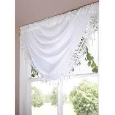 Ebay Curtains With Pelmets Ready Made by Daisy Macrame Ready Made Voile Swag Net Curtain Decorative Pelmet