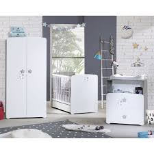 armoire chambre chambre bébé trio nao lit 60x120cm commode armoire de baby