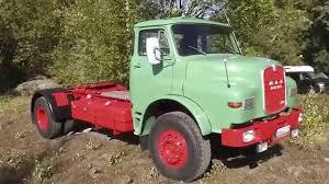 MAN Diesel 13230 - Beautiful Old German Semi-Trailer Truck - YouTube
