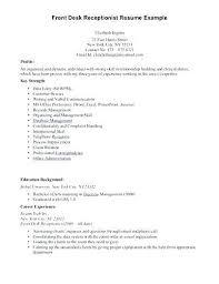 Front Desk Supervisor Resume Samples Medical Office Administration Skills Sample Receptionist Example