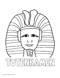 World History Coloring Pages Printables King Tut