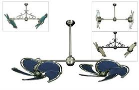 twin star ii double ceiling fan with 32 nautical blades the