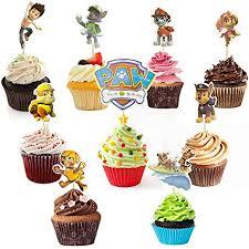 codirato 45 stück cake toppers cupcake stäbchen paw patrol tortenstecker torte kuchendeckel süße kinder kuchen dekoration für kinder geburtstag