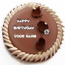Write Name Happy Birthday Round Chocolate Cake With Friend
