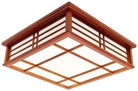 lugeuk mahagoni klassische led holz deckenleuchte nussbaum farbe schlafzimmer studie wohnzimmer balkon ganglichter size s