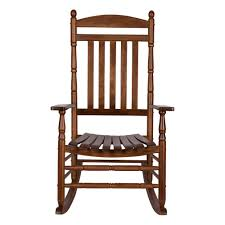 Shine Company Rhode Island Oak Wood Outdoor Porch Rocker-4333OA ...
