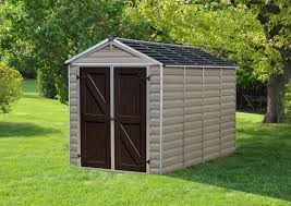 Suncast Tremont Shed 8 X 13 by Palram Skylight 6 Ft 1 In W X 9 Ft 11 In D Plastic Storage