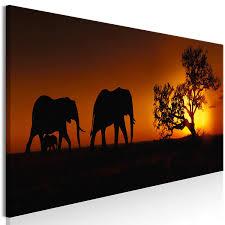 leinwand bilder afrika elefant akustikbild wandbilder