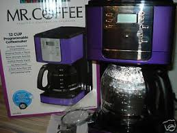 Mr Coffee 12 Cup Programmable Maker Purple Open Box W Insturctions