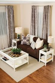 Living Room Decor Ideas Brown Couch With The White Coffee Table