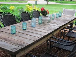 Picturesque Farmhouse Patio Table Best 25 Wooden Outdoor Ideas On Of Dining
