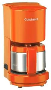Cuisinart Red Coffee Maker 4 Cup Coffeemaker Orange Ball