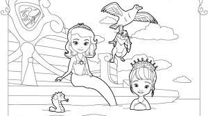 Sofia The First Coloring Pages Getcoloringpages Inside Printable