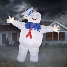 Halloween Blow Up Decorations by Gemmy 12 Ft X 13 Ft Lighted Stay Puft Marshmallow Man Halloween