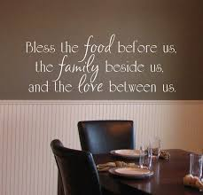 Bless The Food Before Us Family Beside And Love Between Vinyl Wall Decal