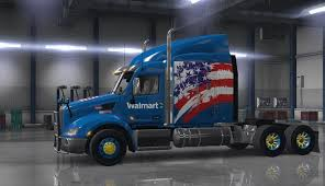 Walmart Skin USA Edition For Peterbilt 579 - American Truck ... Garmin Dzl 770lmthd 7 Advanced Gps For Transports North America Disneypixar Cars Wally Hauler Walmartcom Rand Mcnally Truck Atlas App Walmart Maisto Tech Rock Crawler Walmarts New Delivery Trucks Only Have One Seat And Its Right In Future Of Freight 4 Semi Trucks That Look Like Transformers Amazoncom Xgody 5 Inch Portable Car Navigation With Sunshade Walmart Toy Catalog 2018 Video Shows Truck Crashing Through Entrance Texas Fort Mcd Rv Window Shades Modern Concept With Anielka Dickie Toys 21 Air Pump Dump Overview Dezl 7inch Semitrucks Youtube