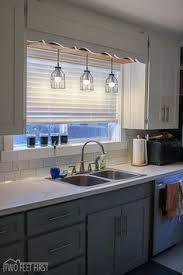 kitchen lights sink home design and decorating