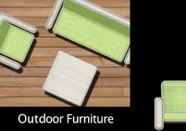 Top View Outdoor Furniture Set
