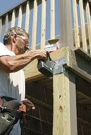Floor Joist Spans For Decks by Make An Old Deck Safe Fine Homebuilding