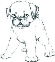 Christmas Dog Coloring Pages Dogs Plus Pug Of