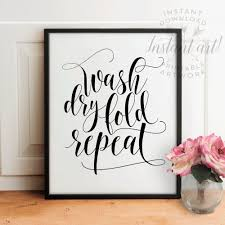 Leopard Print Bathroom Wall Decor by Laundry Room Decor Printable Artwash Dry Fold Repeatbathroom