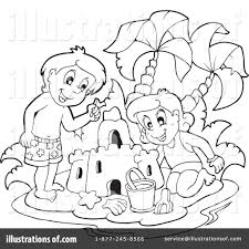 Sand Castle Clipart Simple Cartoon 10