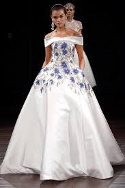 wedding dresses photos blue floral ball gown by naeem khan