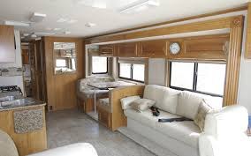 Photo Courtesy Of Wikipedia Large Living Space Inside A Class RV