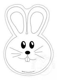 Bunny Rabbit Face Coloring Page