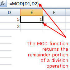 Ceiling Function Excel 2007 by Find The Remainder When Dividing With Excel U0027s Mod Function
