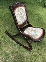 Antique Victoria Wood & Upholstery Folding Rocking Chair ... Antique Folding Oak Wooden Rocking Nursing Chair Vintage Tapestry Seat In East End Glasgow Gumtree Britain Antique Rocking Chair Folding Type Wooden Purity Beautiful Art Deco Era Woodenslatted Armless Elegant Sewing Side View Isolated On White Victorian La20276 Loveantiquescom Rocksewing W Childs Upholstered Solid Wood And Fniture Of America Betty San Francisco 49ers Canvas Original Box