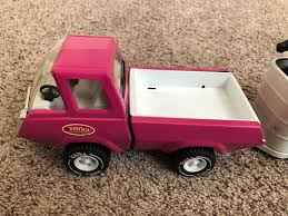 100 Pink Tonka Truck Vintage Stables And Horse Trailer W Horses