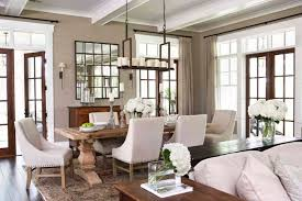 Nice Pottery Barn Dining Room With Rectangular Wooden Table Decor