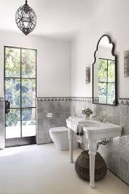 moroccan tile floor mediterranean bathroom carole reed design