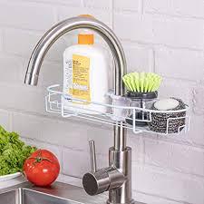 waschbecken organizer wasserhahn schwammhalter geschirrtuch aufhänger badezimmer wasserhahn aufbewahrung hängeregal für dusche