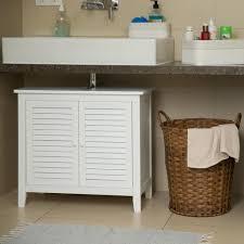 relaxdays waschbeckenunterschrank weiß lamell
