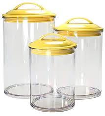 Calypso Basics By Reston Lloyd Acrylic Storage Canisters Set Of 3 Lemon
