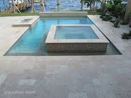 ivory tumbled travertine pool deck tiles and pavers modern