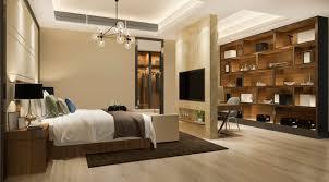 3d rendering schöne luxus schlafzimmer suite im hotel mit tv
