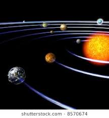Schematical Image Of The Solar System With Clipping Path