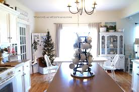 The Only Thing I Moved Was My Farm Table And ChairThis Tree Is Perfect Size For Our Kitchen Love Soft Glow Of Lights At Night Too